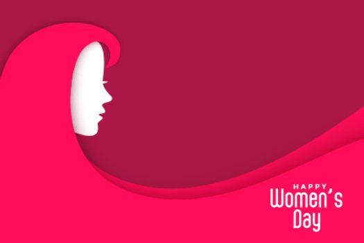 womens day creative background with lady face