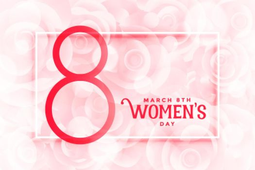happy womens day beautiful pink flowers background