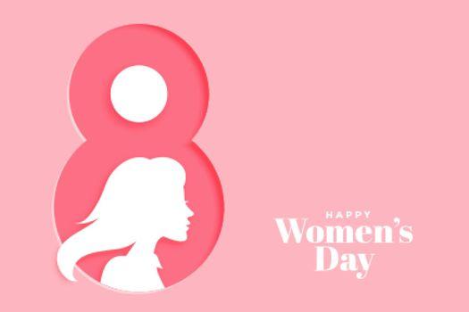 creative happy womens day pink banner design