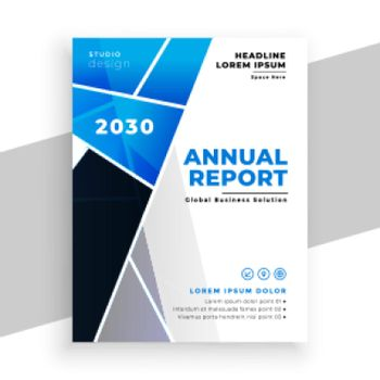business annual report flyer geometric template design
