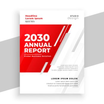 professional red annual report brochure template design