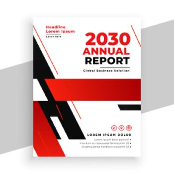 red annual report professional brochure design template