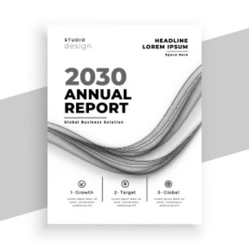 abstract white annual report business brochure template