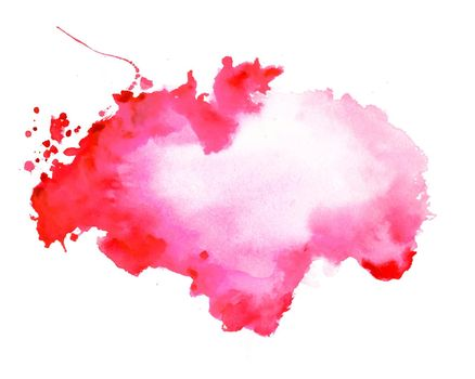 abstract red watercolor stain texture background design