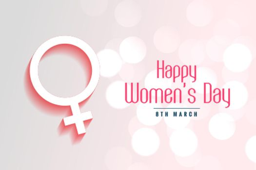 happy womens day bokeh style background design