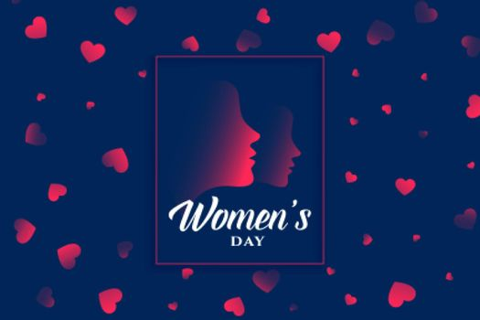 womens day heart and face background design