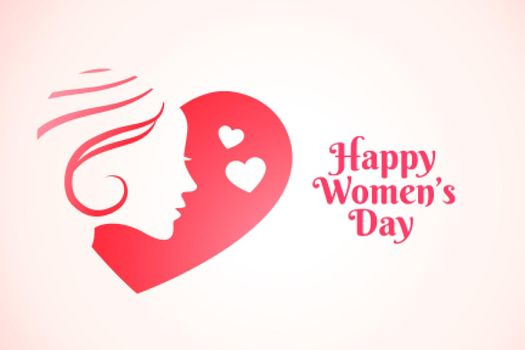 attractive happy womens day greeting card design