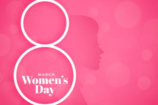 lovely pink happy womens day event banner