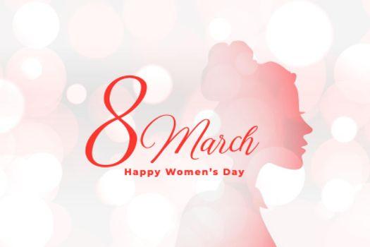 beautiful happy womens day elegant bokeh background