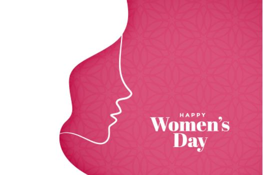 womens day background in creative style design