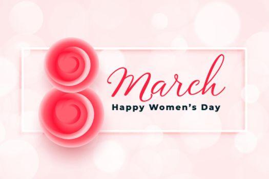 stylish happy womens day greeting background design