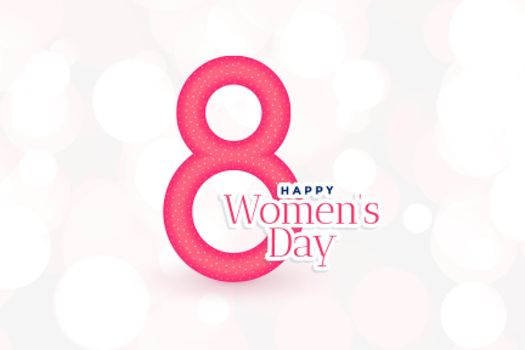 8th march international happy womens day background