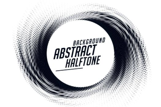 abstract swirl grunge halftone pattern frame background