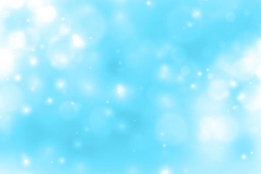 blue background with glowing sparkle bokeh design
