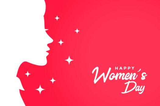 happy womens day greeting card elegant background