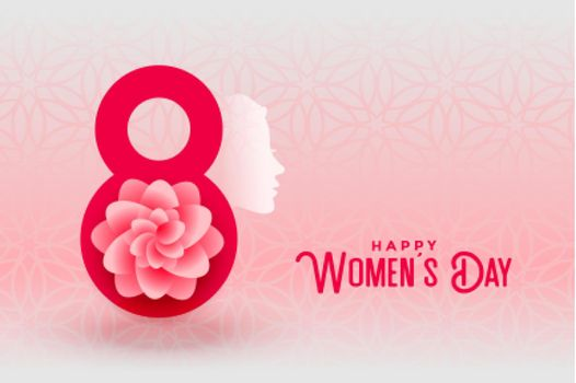 happy womens day creative greeting card design