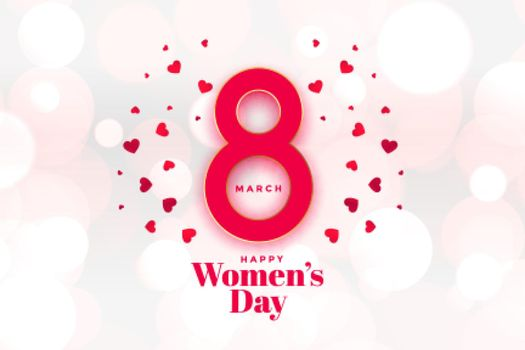 heappy womens day hearts background beautiful design