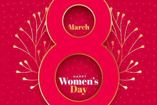 happy womens day creative concept background design