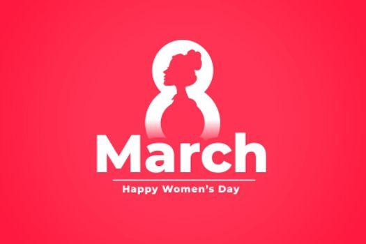 march 8th international womens day celebration background