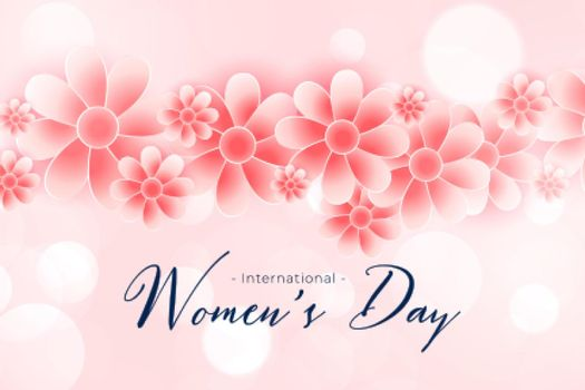 beautiful happy womens day flower background design