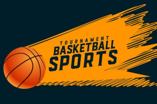 abstract sporty style basketball tournament background design