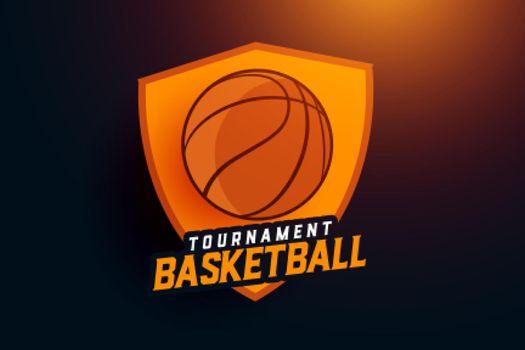 basketball tournament sports team logo concept design