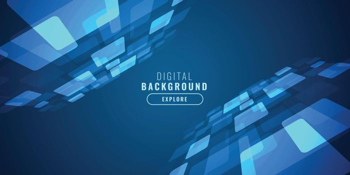 digital blue technology background with perspective design