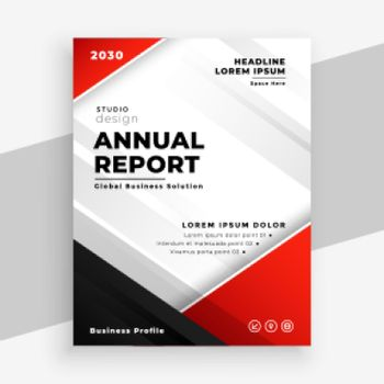 stylish red annual report business flyer template
