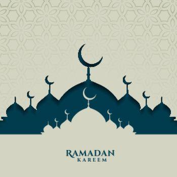 islamic festival card for ramadan kareem season