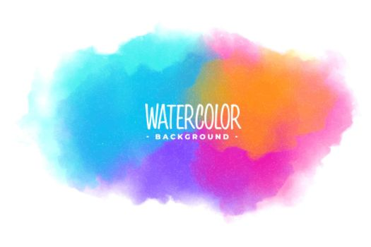 many colors watercolor stain texture background design