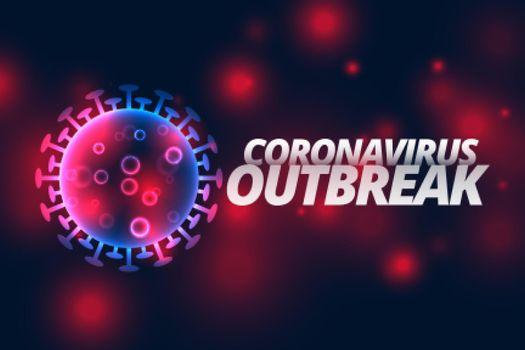 coronavirus infection outbreak pandemic disease background design