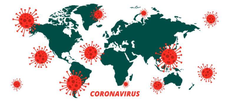 global covid-19 coronavirus pandemic infection outbreak background