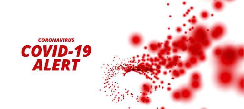 coronavirus covid-19 pandemic outbreak alert background design