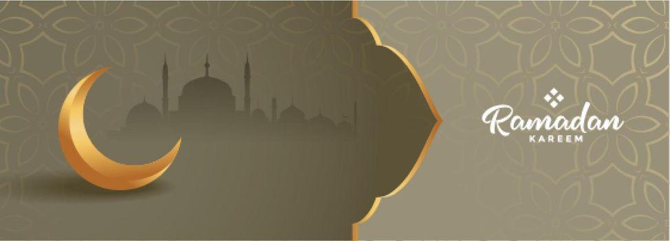 lovely ramadan kareem seasonal banner beautiful design