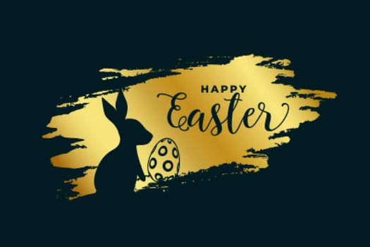 happy easter festival background in golden theme