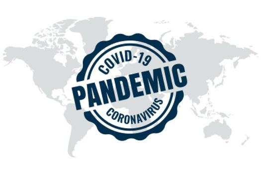 Covid-19 global outbreak pandemic background with world map