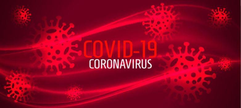 coronavirus novel covid-19 infection spread red banner