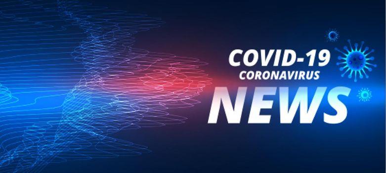 covid-19 novel coronavirus latest news banner template