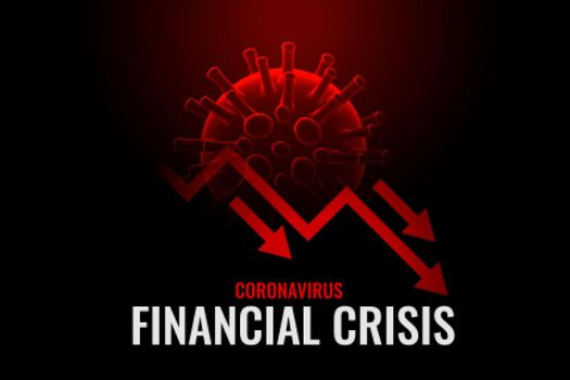 financial crisis due to coronavirus background design