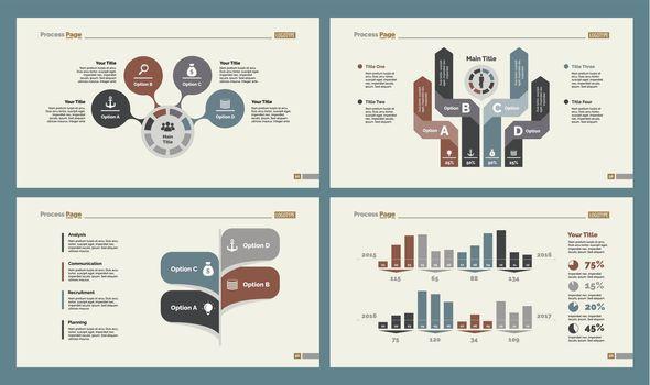 Four Analyzing Slide Templates Set