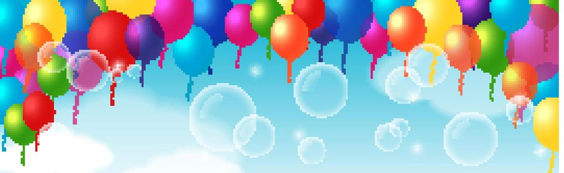 Colorful Decorative Element With Balloons