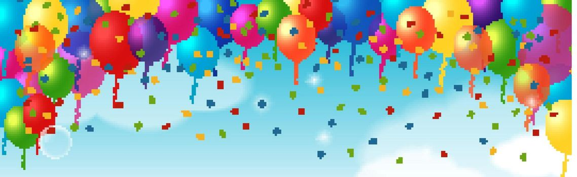 Decorative Element With Balloons