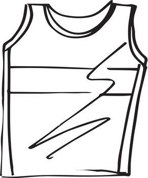 Sketch of t-shirt sleeveless