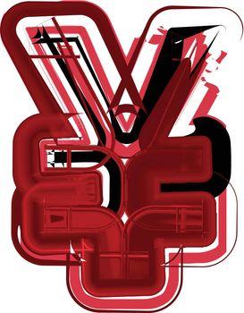Abstract Yen Symbol