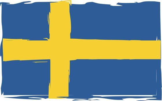 Grunge SWEDEN flag or banner