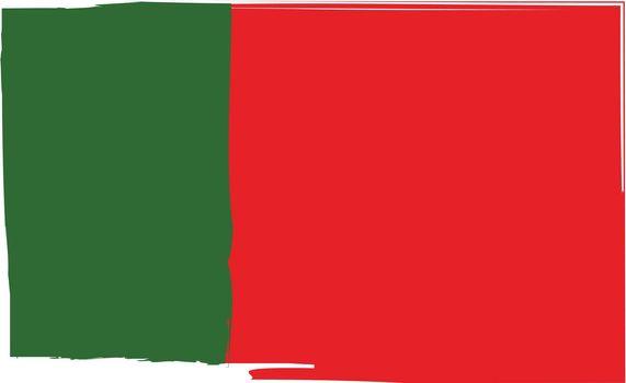 Grunge PORTUGAL flag or banner