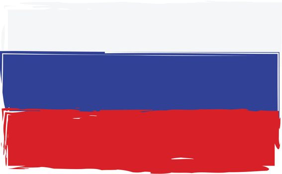 Grunge RUSSIA flag or banner