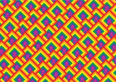gay pride flag pattern