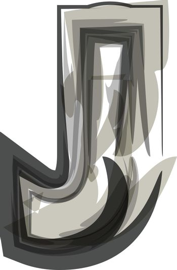 Abstract Letter J