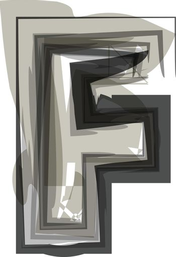 Abstract Letter F